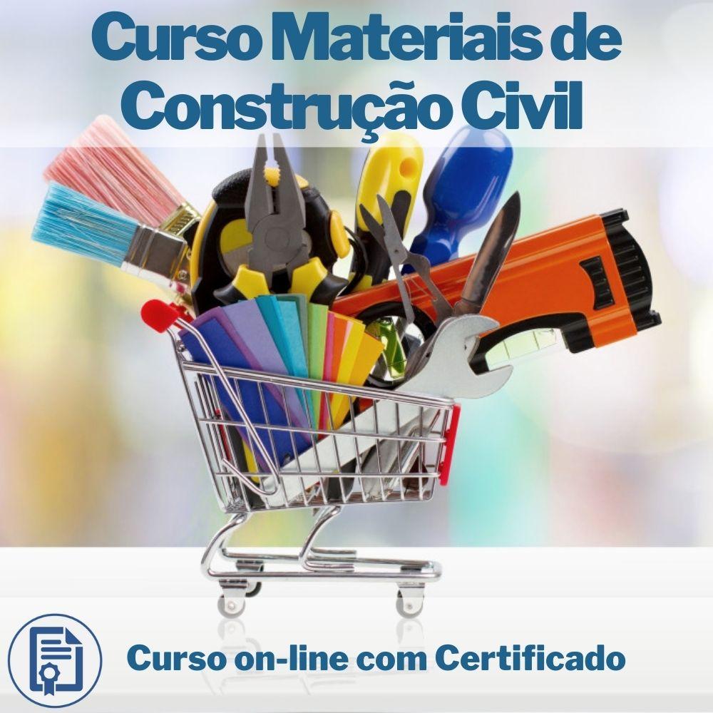 Curso on-line de Materiais de Construção Civil com Certificado