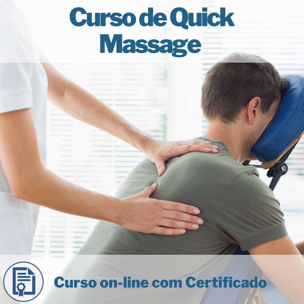 Curso on-line de Quick Massage com Certificado