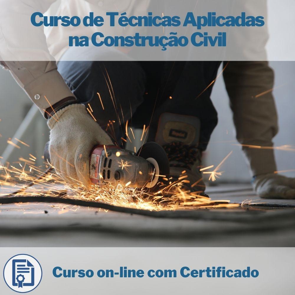 Curso on-line de Técnicas Aplicadas na Construção Civil com Certificado