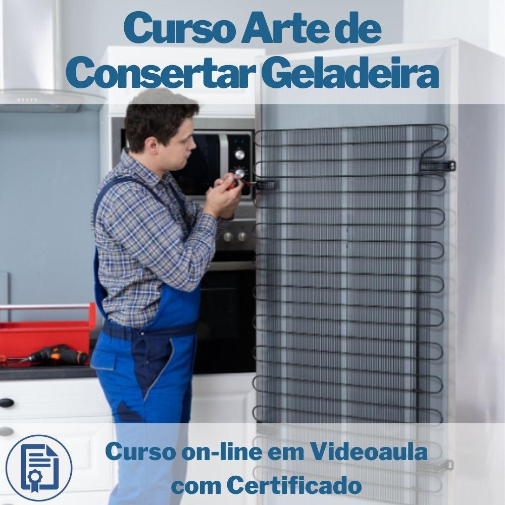 Curso on-line em videoaula A Arte de Consertar Geladeira com Certificado