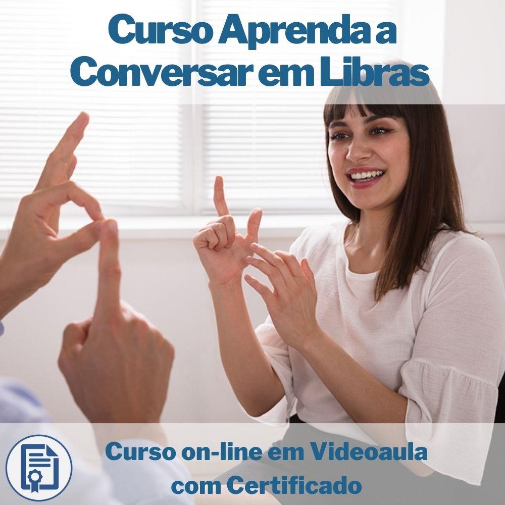 Curso on-line em videoaula Aprenda a Conversar em Libras com Certificado  - Aprova Cursos
