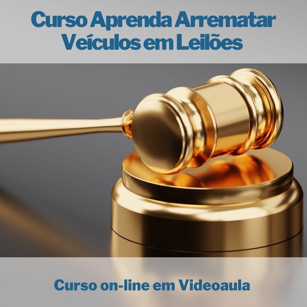 Curso on-line em videoaula Aprenda Arrematar Veículos em Leilões