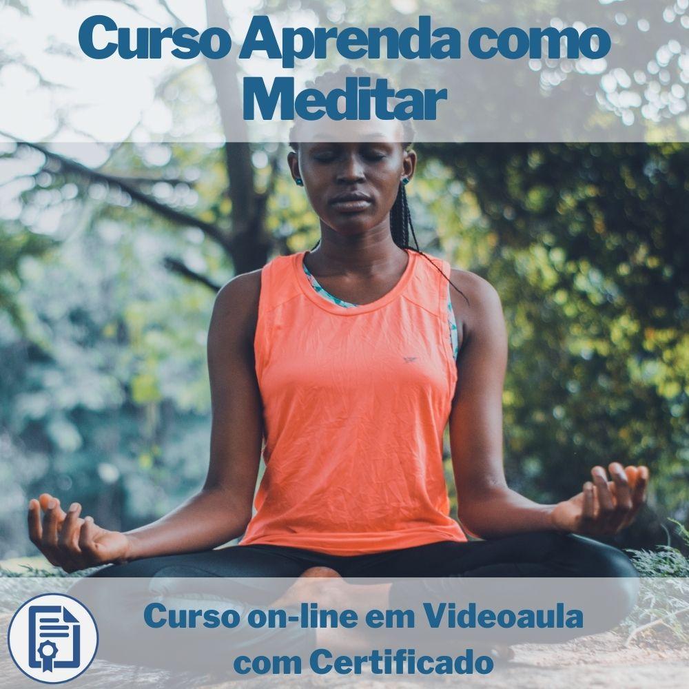 Curso on-line em videoaula Aprenda como Meditar com Certificado
