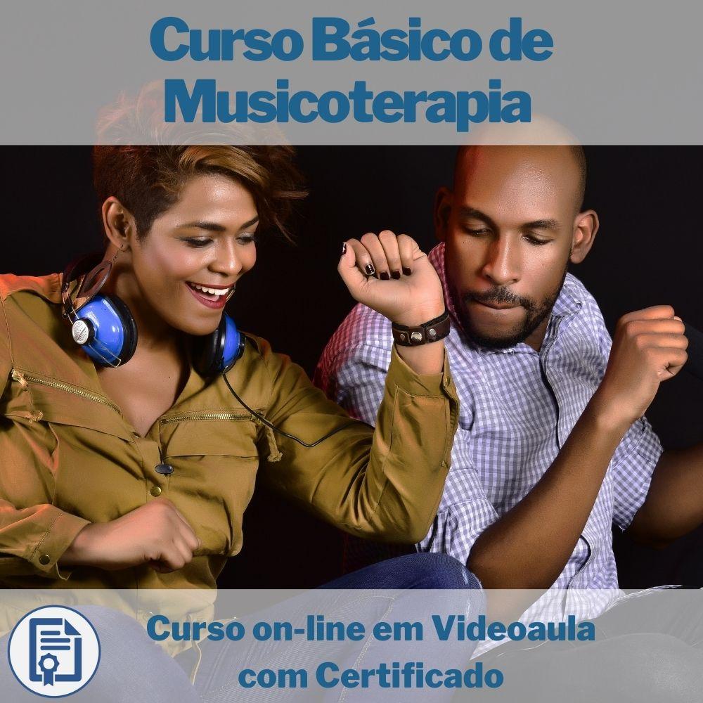 Curso on-line em videoaula Básico de Musicoterapia com Certificado