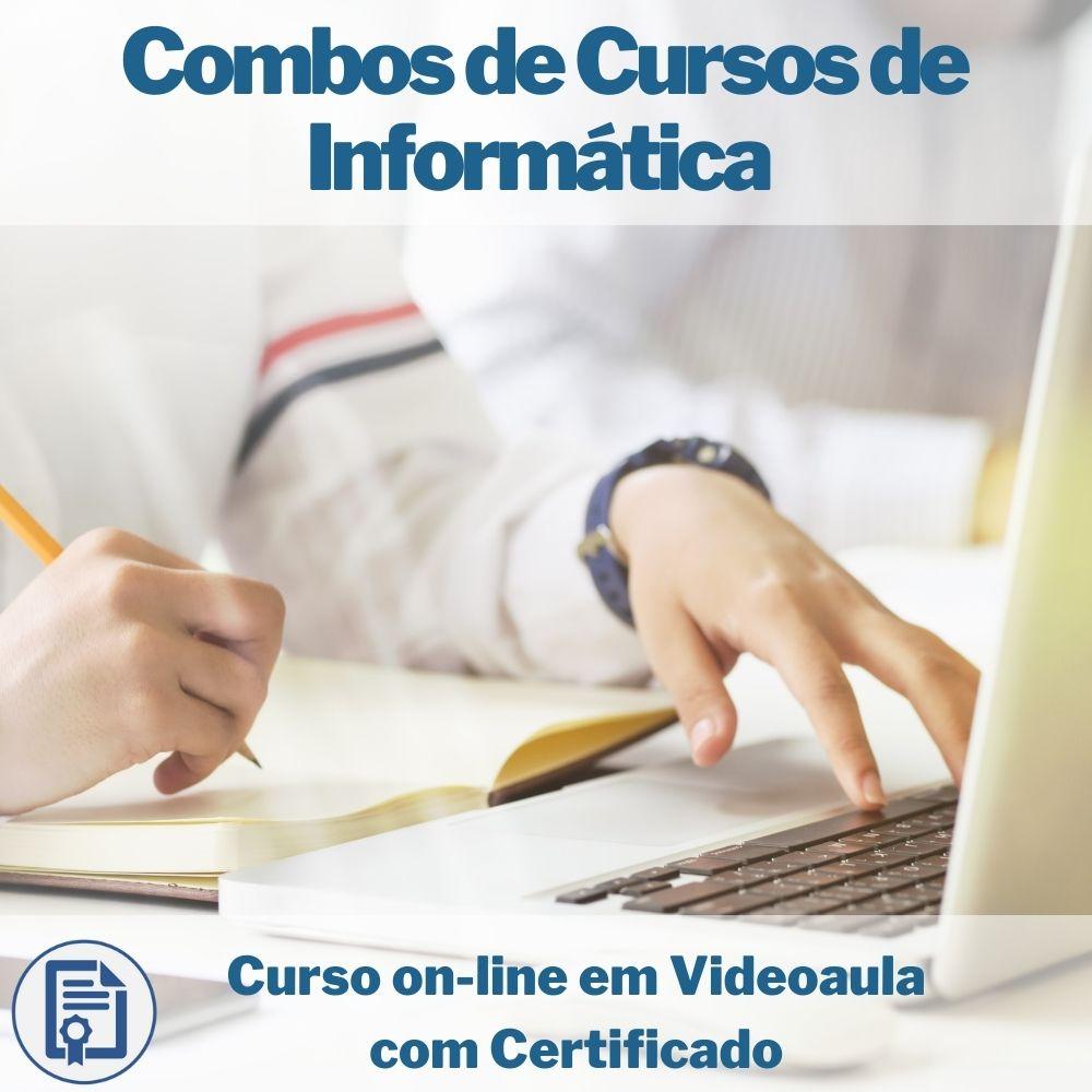 Curso on-line em videoaula Combo de Informática com Certificado