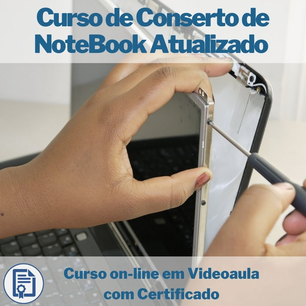Curso on-line em videoaula Conserto de NoteBook com Certificado