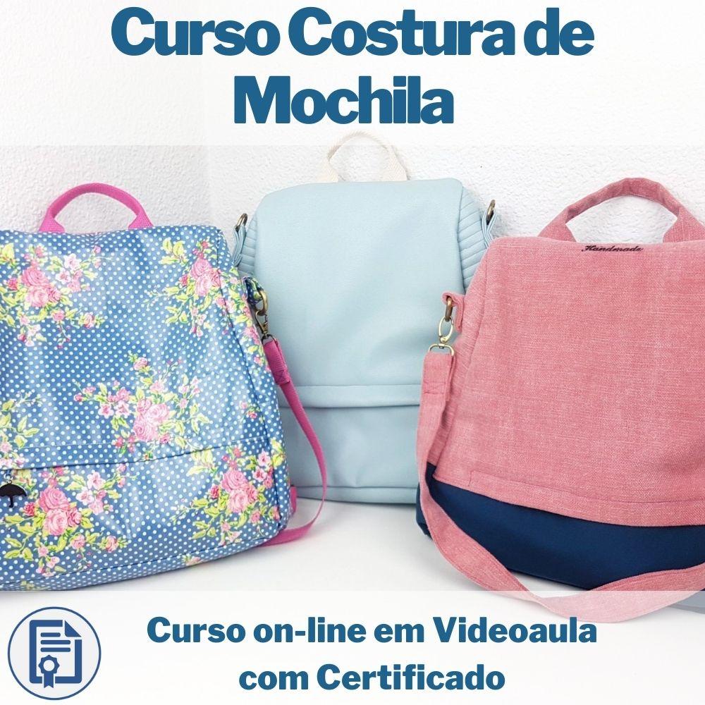 Curso on-line em videoaula Costura de Mochila com Certificado