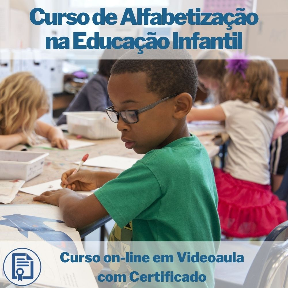 Curso on-line em videoaula de Alfabetização na Educação Infantil com Certificado