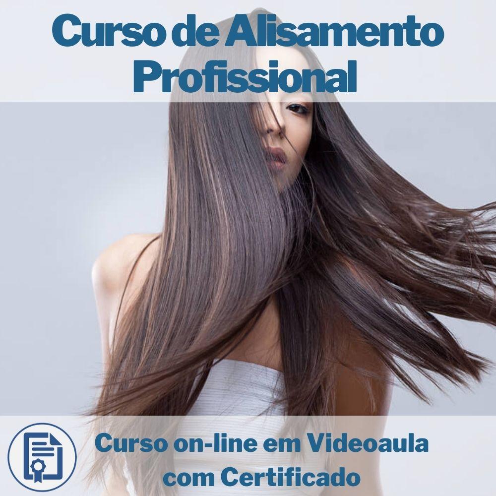 Curso on-line em videoaula de Alisamento Profissional com Certificado