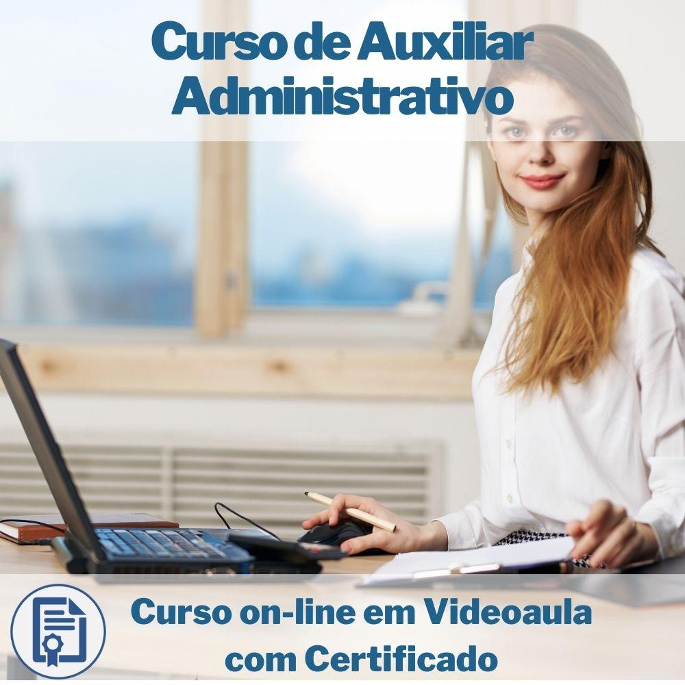Curso on-line em videoaula de Auxiliar Administrativo com Certificado