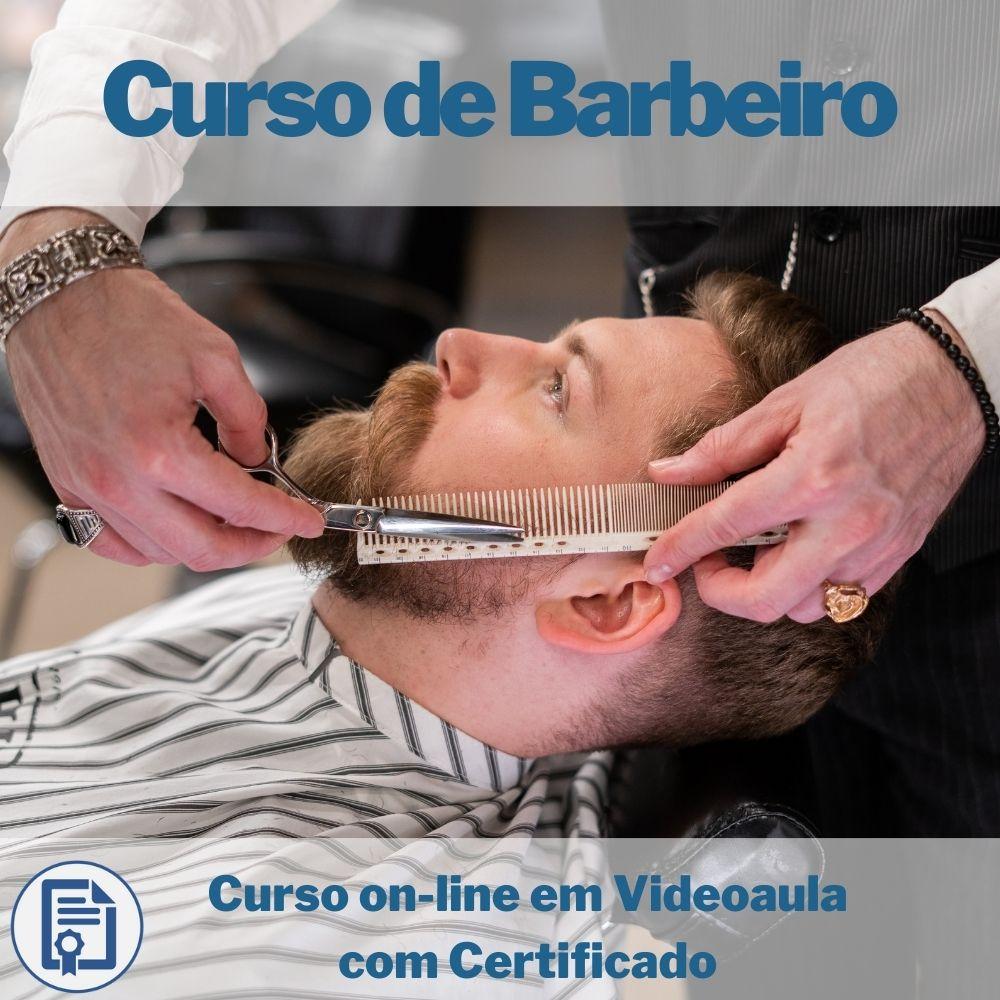 Curso on-line em videoaula de Barbeiro com Certificado