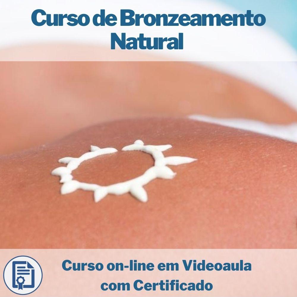 Curso on-line em videoaula de Bronzeamento Natural com Certificado