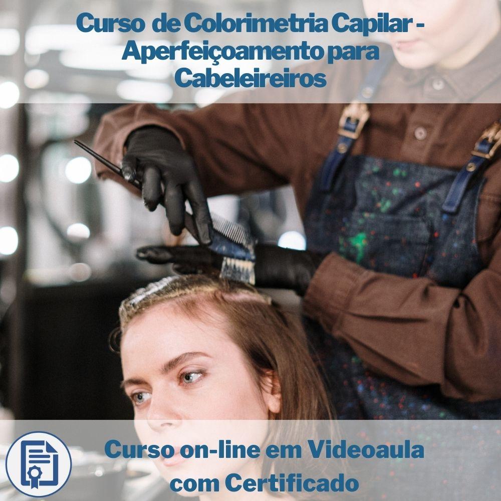 Curso on-line em videoaula de Colorimetria Capilar - Aperfeiçoamento para Cabeleireiros com Certificado