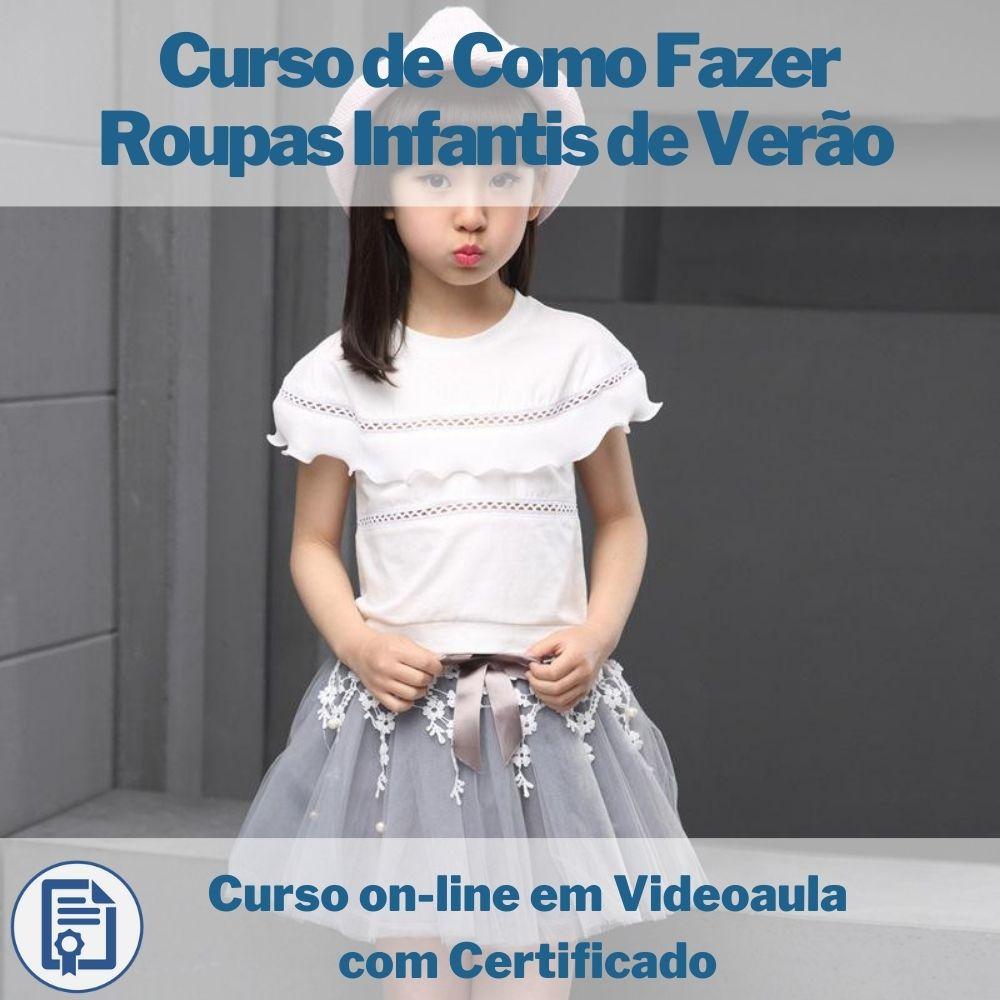 Curso on-line em videoaula de Como Fazer Roupas Infantis de Verão com Certificado