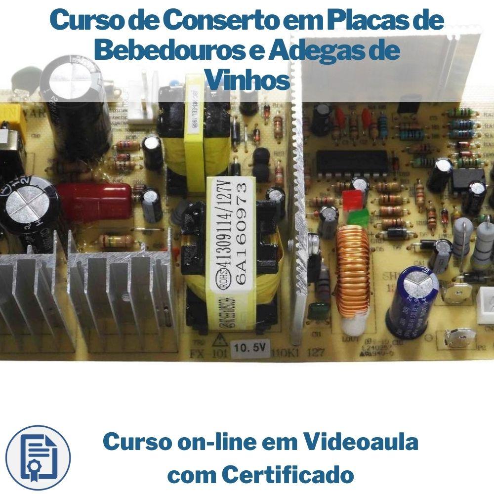 Curso on-line em videoaula de Conserto em Placas de Bebedouros e Adegas de Vinhos com Certificado