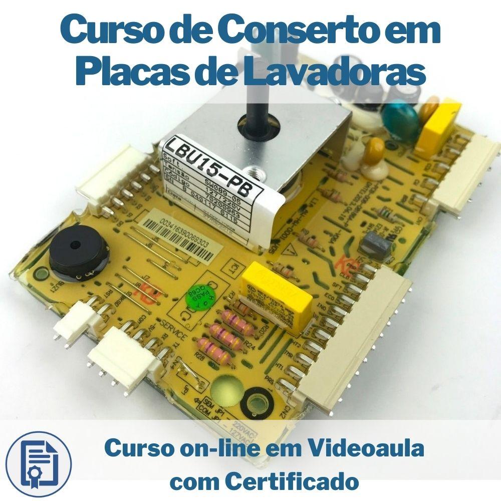 Curso on-line em videoaula de Conserto em Placas de Lavadoras com Certificado
