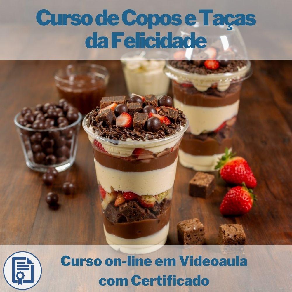 Curso on-line em videoaula de Copos e Taças da Felicidade com Certificado
