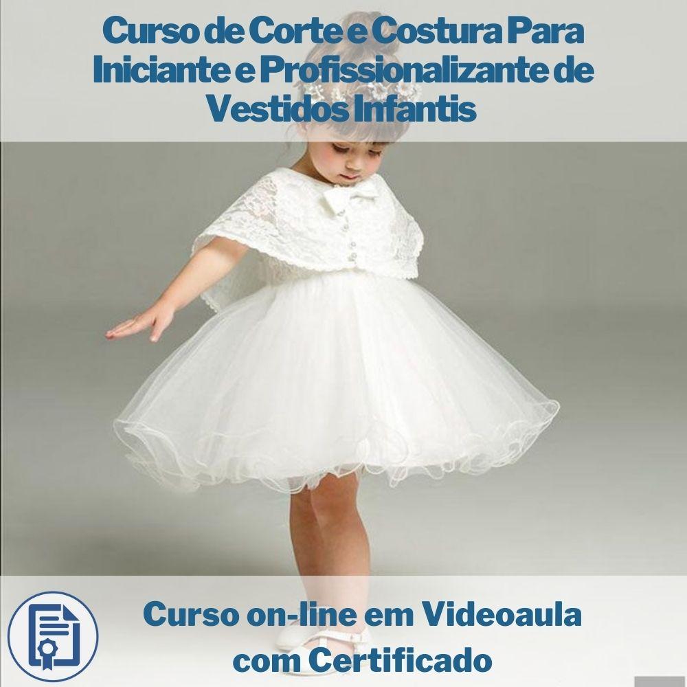 Curso on-line em videoaula de Corte e Costura Para Iniciante e Profissionalizante de Vestidos Infantis com Certificado