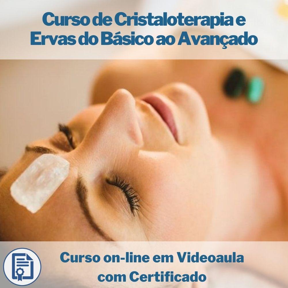Curso on-line em videoaula de Cristaloterapia e Ervas do Básico ao Avançado com Certificado