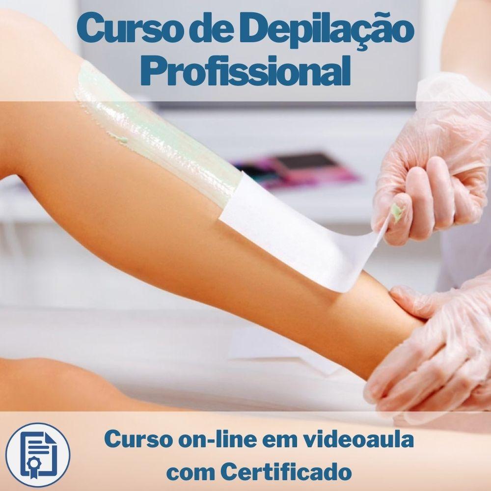 Curso on-line em videoaula de Depilação Profissional com Certificado