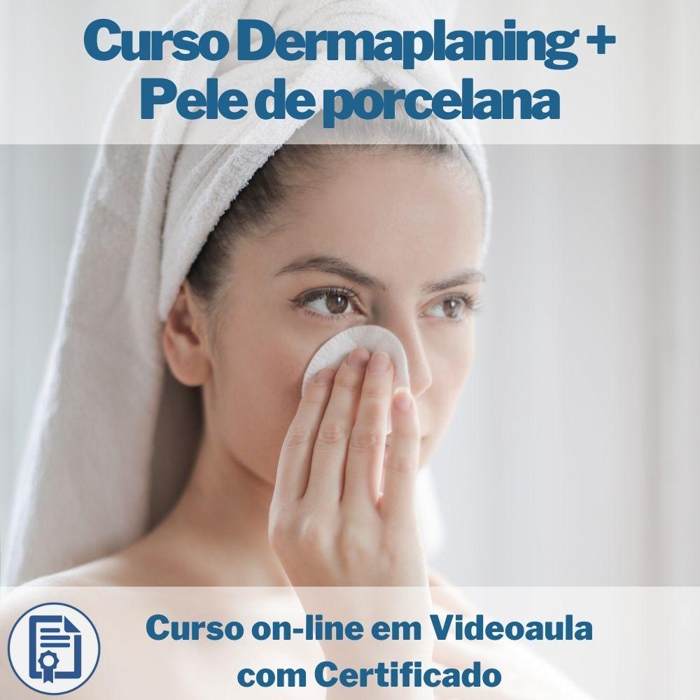 Curso on-line em videoaula de Dermaplaning + Pele de porcelana com Certificado