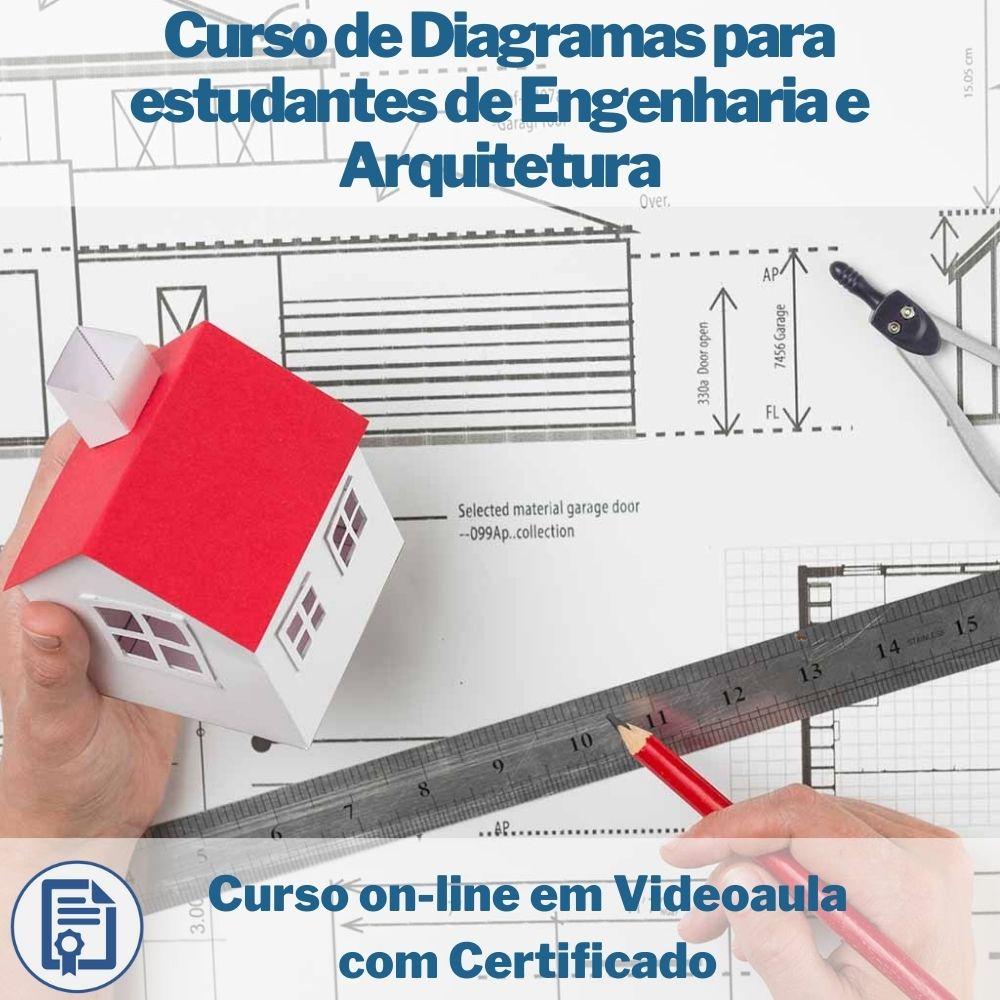 Curso on-line em videoaula de Diagramas para estudantes de Engenharia e Arquitetura com Certificado