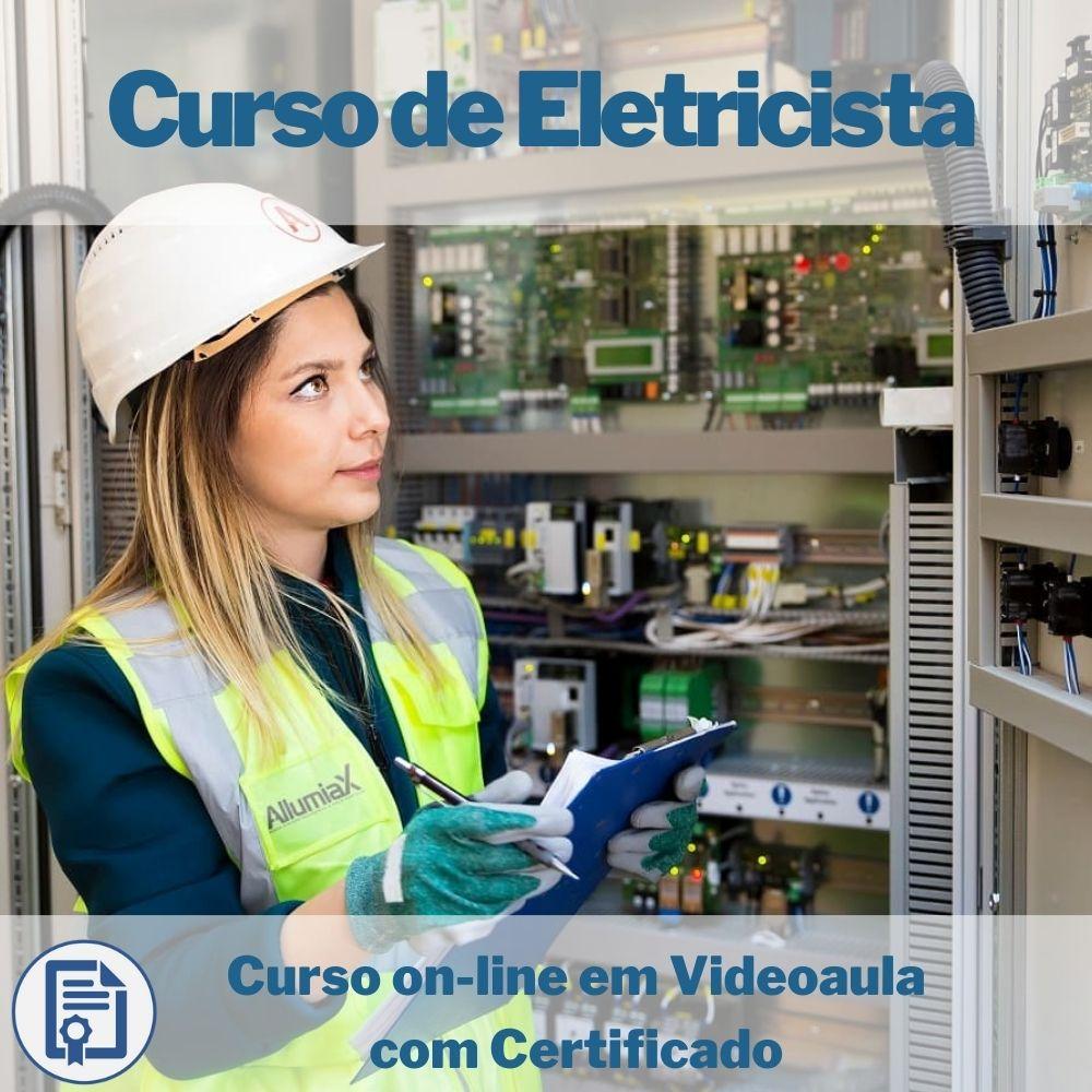 Curso on-line em videoaula de Eletricista Residencial com Certificado
