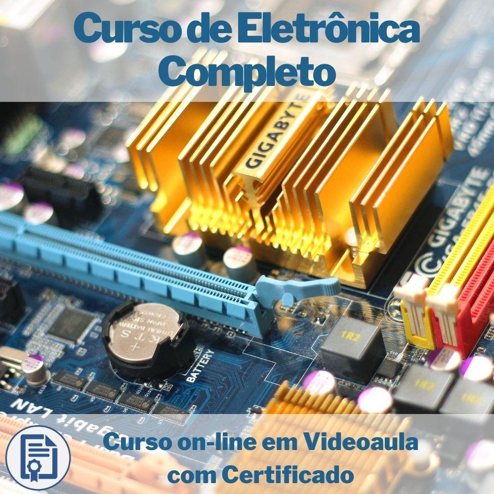Curso on-line em videoaula de Eletrônica Completo com Certificado