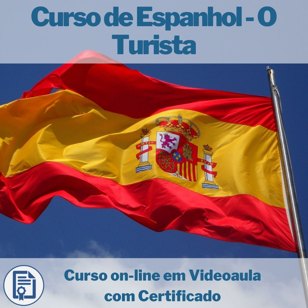 Curso on-line em videoaula de Espanhol - O Turista com Certificado