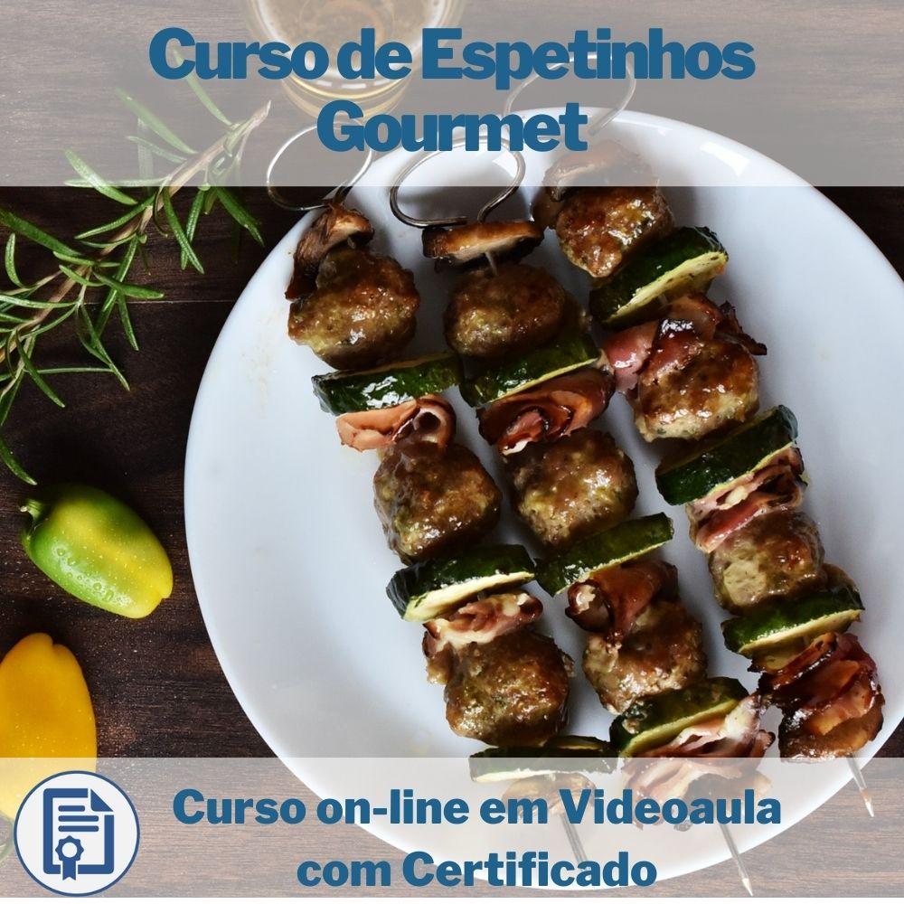 Curso on-line em videoaula de Espetinhos Gourmet com Certificado