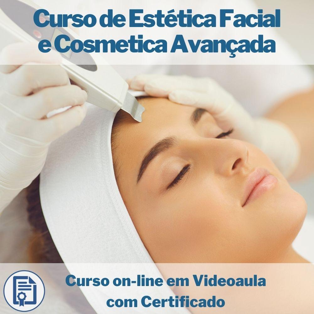 Curso on-line em videoaula de Estética Facial e Cosmetica Avançada com Certificado