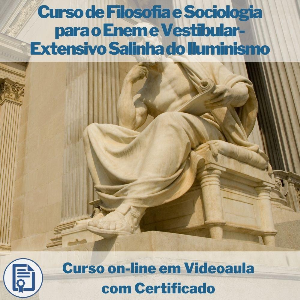 Curso on-line em videoaula de Filosofia e Sociologia para o Enem e Vestibular- Extensivo Salinha do Iluminismo com Certificado