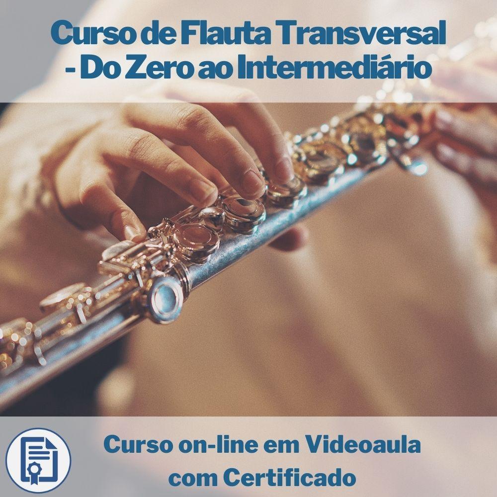 Curso on-line em videoaula de Flauta Transversal - Do Zero ao Intermediário com Certificado