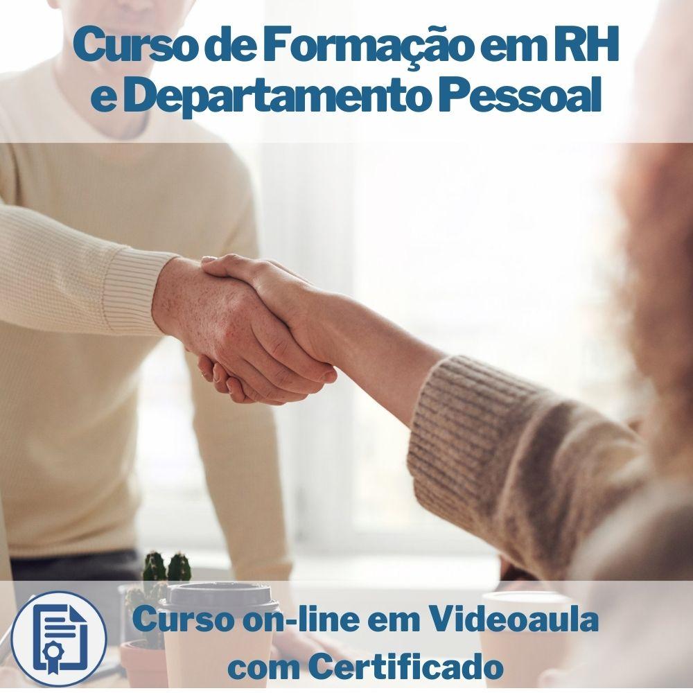 Curso on-line em videoaula de Formação em RH e Departamento Pessoal com Certificado