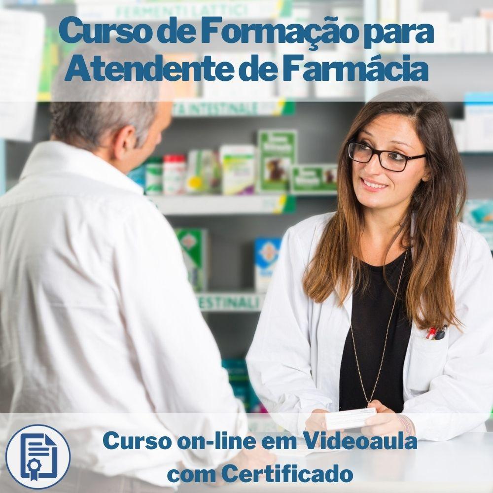 Curso on-line em videoaula de Formação para Atendente de Farmácia com Certificado