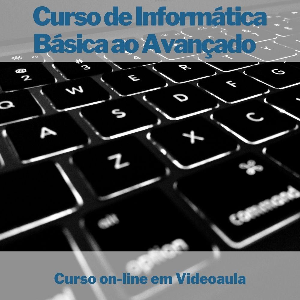 Curso on-line em videoaula de Informática Básica ao Avançado