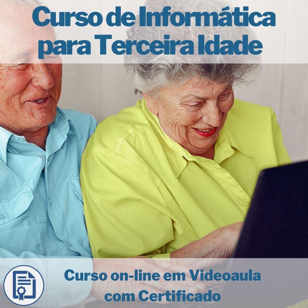 Curso on-line em videoaula de Informática para Terceira Idade com Certificado