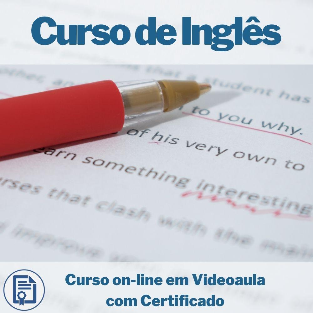 Curso on-line em videoaula de Inglês com Certificado
