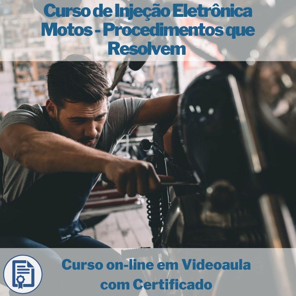 Curso on-line em videoaula de Injeção Eletrônica Motos - Procedimentos que Resolvem com Certificado