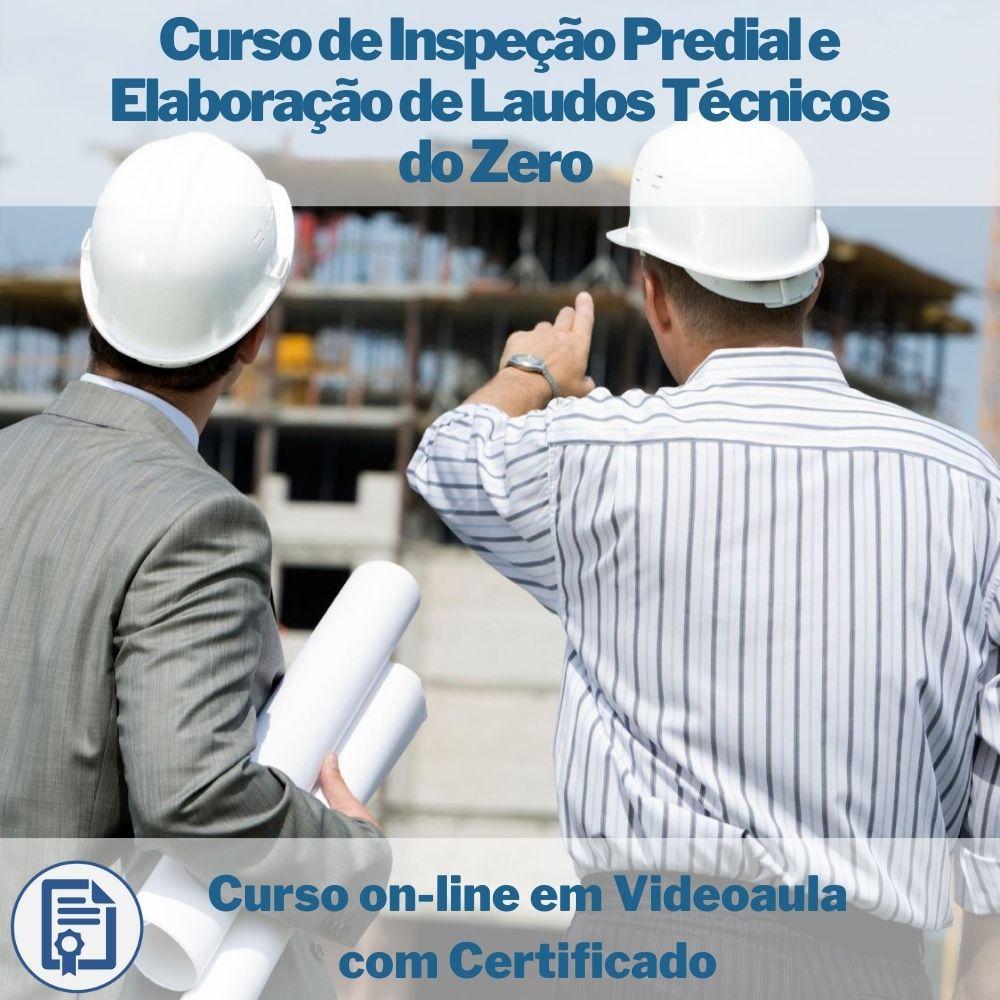 Curso on-line em videoaula de Inspeção Predial e Elaboração de Laudos Técnicos do Zero com Certificado