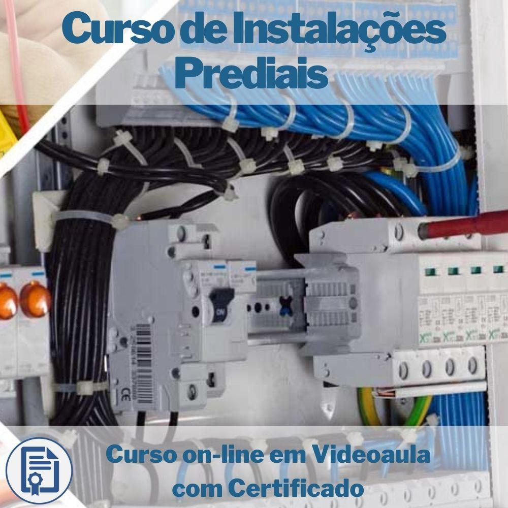 Curso on-line em videoaula de Instalações Prediais com Certificado