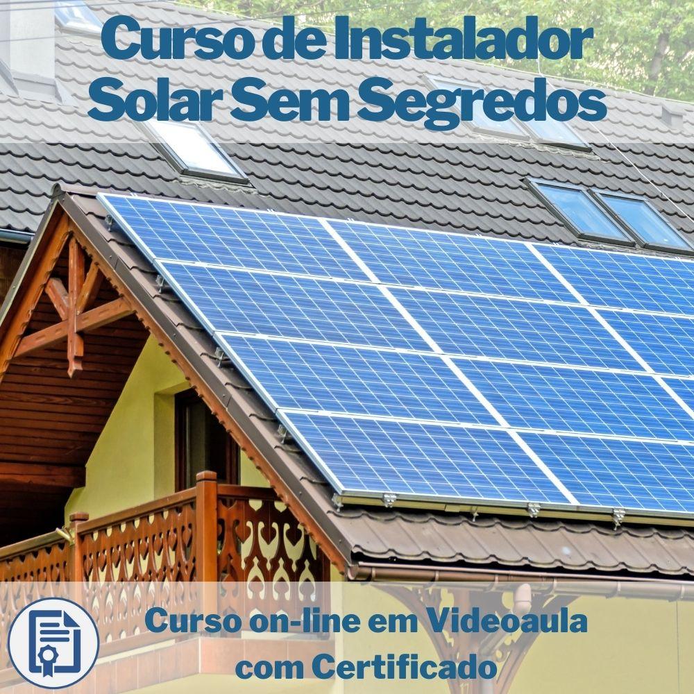 Curso on-line em videoaula de Instalador Solar Sem Segredos com Certificado