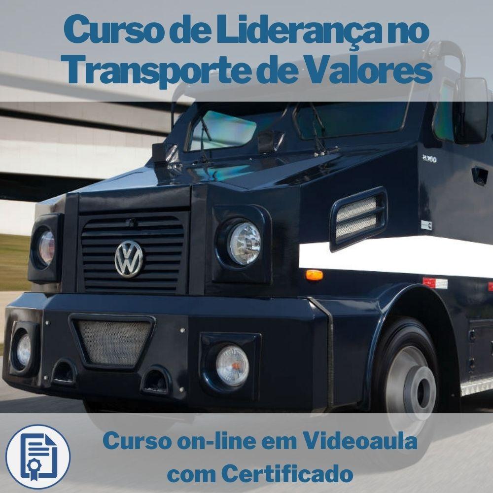 Curso on-line em videoaula de Liderança no transporte de valores com Certificado