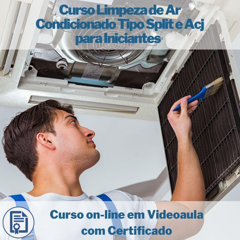 Curso on-line em videoaula de Limpeza de Ar Condicionado Tipo Split e Acj para Iniciantes com Certificado