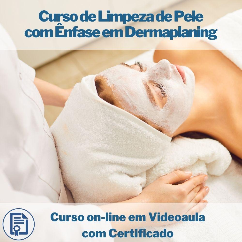 Curso on-line em videoaula de Limpeza de Pele com Ênfase em Dermaplaning com Certificado