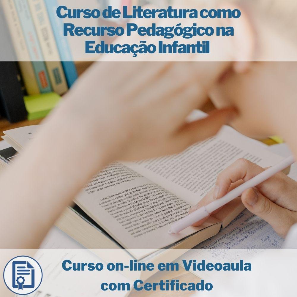 Curso on-line em videoaula de Literatura como Recurso Pedagógico na Educação Infantil com Certificado