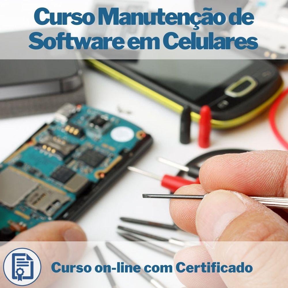 Curso on-line em videoaula de Manutenção de Software em Celulares com Certificado