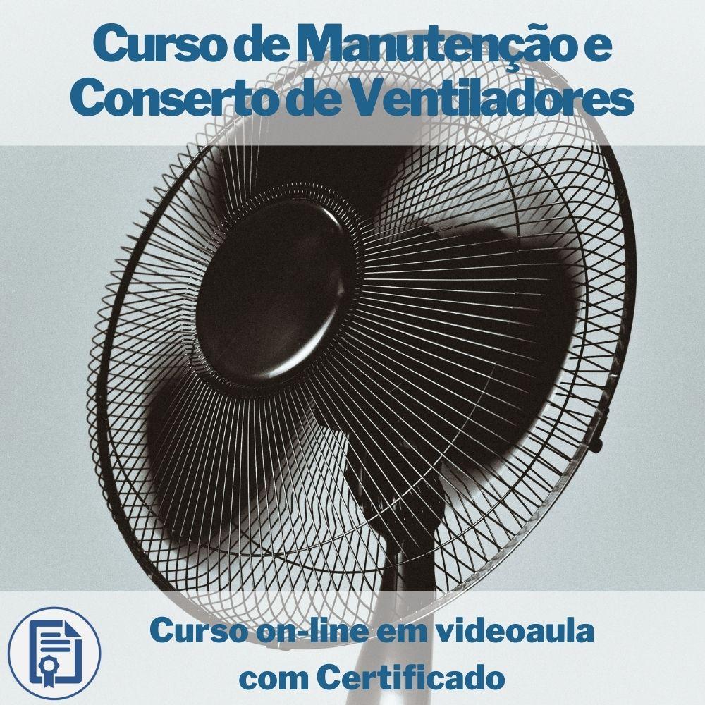 Curso on-line em videoaula de Manutenção e Conserto de Ventiladores com Certificado