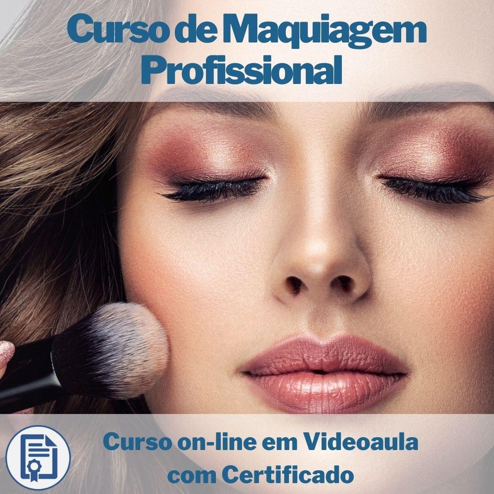 Curso on-line em videoaula de Maquiagem Profissional com Certificado