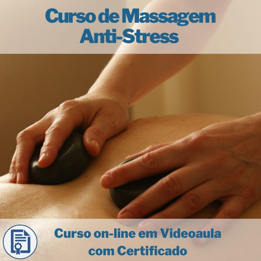 Curso on-line em videoaula de Massagem Anti-Stress com Certificado